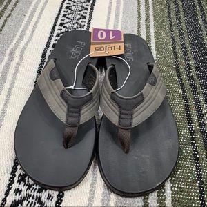 Flojos Men's Size 10 In Black NWT